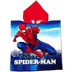 Poncho Spiderman Marvel - Toalla Spiderman Capa de Baño Microfibra