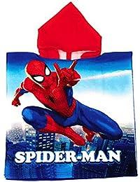 Poncho Spiderman Marvel - Toalla Spiderman Capa de Baño Microfibra