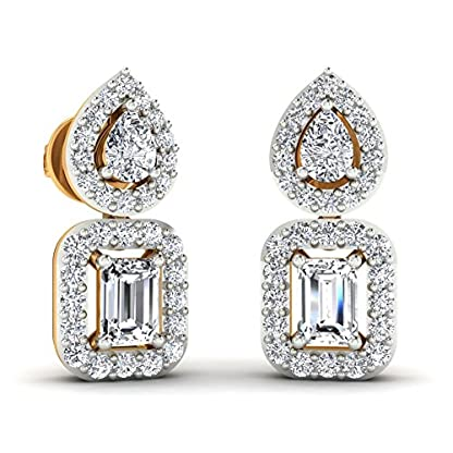 Stylori 18k Yellow Gold and Diamond Arohia Enchanted Stud Earrings