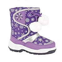 Paradise Girls Snow Boots Fully Lined Warm Winter Wellies POM POM Laces
