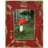 Bilderrahmen aus echtem Alt-Holz im Landhaus-Stil vintage, rustikal - handgefertigte Unikate in rot 13X18