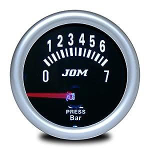 JOM 21114S Manomètre, pression d'huile, aspect miroir noir