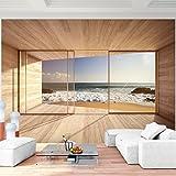 Fototapete Fenster zum Meer 352 x 250 cm - Vliestapete - Wandtapete - Vlies Phototapete - Wand - Wandbilder XXL - !!! 100% MADE IN GERMANY !!!...