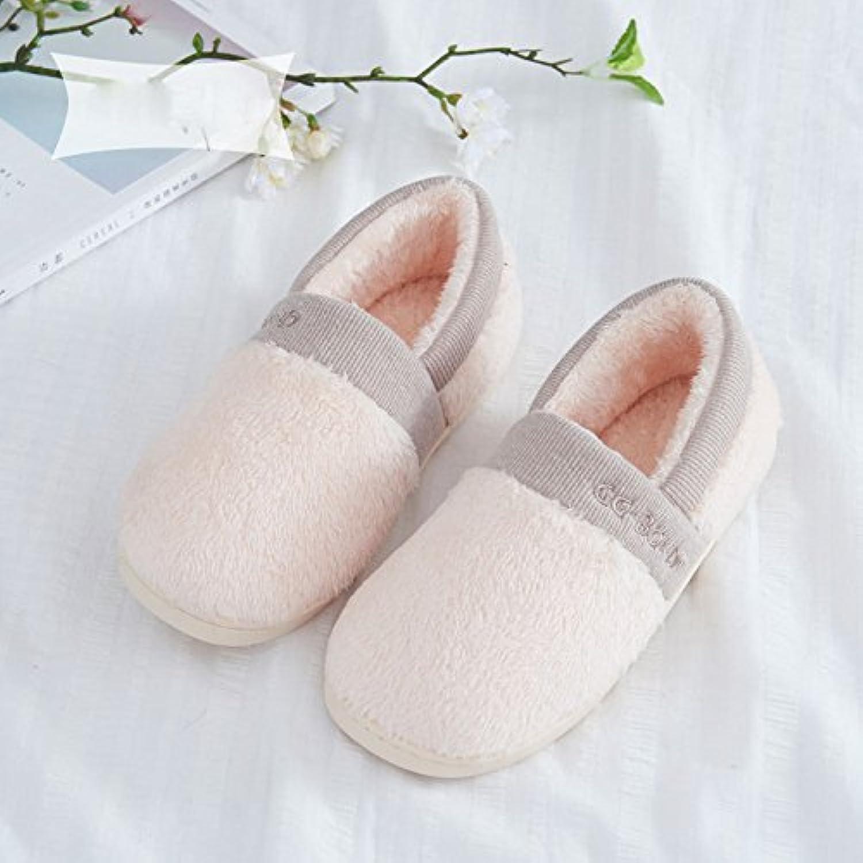 Paket mit Baumwolle Hausschuhe für Männer und Frauen Winter Warme Dicke Rutschfeste Hause Paar Plüsch Monat Schuheö