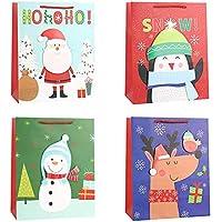 Bolsa de regalo, bolsa de papel kraft de cartón animado, bolsa de regalo de Navidad, adecuado para la conservación de regalos y dulces