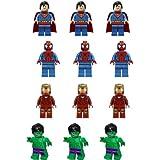 Carlton Trading Lot de 12 figurines comestibles Lego pour décoration de gâteaux 4 personnages différents