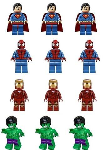 Carlton Trading Lot de 12 figurines comestibles Lego pour décoration de gâteaux 4 personnages