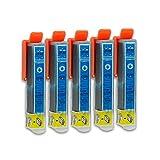 5 Druckerpatronen kompatibel zu Epson 26-XL T2632 (Cyan) passend für Epson Expression Premium XP-510 XP-520 XP-600 XP-605 XP-610 XP-615 XP-620 XP-625 XP-700 XP-710 XP-720 XP-800 XP-810 XP-820