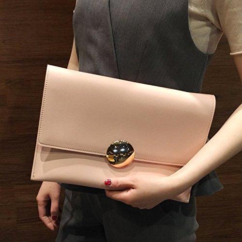 Neue modische Handtasche bulk Tasche Tasche einfache runde Schnalle, Claret Pink