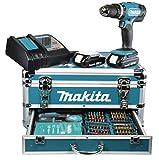 Makita Akku-Schlagbohrschrauber 18 V / 1,5 Ah im Alukoffer inklusive 96-teilig Zubehörset, DHP453RYX2 Bild 2