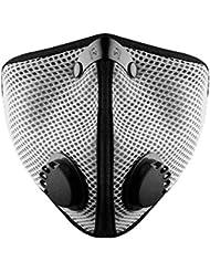 RZ Mask M2 Titanium Mesh - Masque Anti-Particules Avec Filtre De Charbon Actif + Filtre Et Étui Gratuit