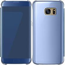 ebestStar - pour Samsung Galaxy S7 edge SM-G935F G935 - Housse Coque Etui View Clear Cover Miroir, Couleur Bleu Foncé [Dimensions PRECISES de votre appareil : 150.9 x 72.6 x 7.7 mm, écran 5.5'']