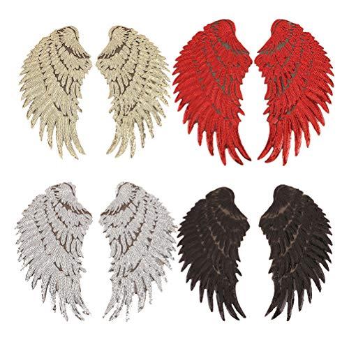 Pizies 4 pares alas ángel lentejuelas planchar parche