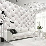 murando – Papier peint intissé – 350x256 cm – Trompe l oeil - Tableaux muraux – Déco – XXL– blanc moderne f-B-0039-a-a