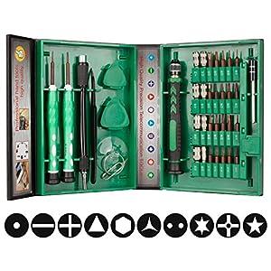 Smraza Schraubenzieher Set, 38 IN 1 Mini Schraubendreher Satz Werkzeugset für Reparatur iPhone, iPad, Tablets, Laptops, PC, PSP, Smartphone