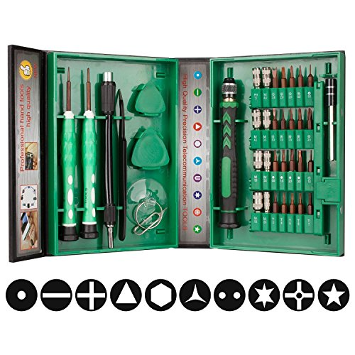 Mini Schraubendreher Set, Smraza 38 in 1 Schraubendrehersatz Magnetische Reparatur Werkzeug Set für iphone, iPad, Tablets, Laptops, PC, PSP, Smartphone, Brillen, etc. (Bildschirm Apple Ipod Reparatur Tablet)