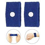 Bracelet anti-dégoûtant, Bracelet de voyage en avion, 5 couleurs pour le mal des transports/le mal de mer/les nausées matinales(bleu)