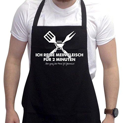Lustige Grillschürze Neuheit Grillen Kochen Geschenke für Herren Ich Reibe Mein Fleisch