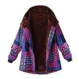 HOOUDO Womens Coat Ladies Autumn Winter Warm Fashion Casual Plus Size Hooded Long