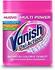 Vanish Oxi Action Multipower Polvere Rosa, Smacchiatore per Bucato, Smacchiatore per Capi Colorati, Multiazion
