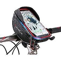 Bolsa Bicicleta Manillar,Selighting Bolsa Bicicleta Impermeable,Soporte Bolsa Movil Bicicleta Bolso Delantero Con