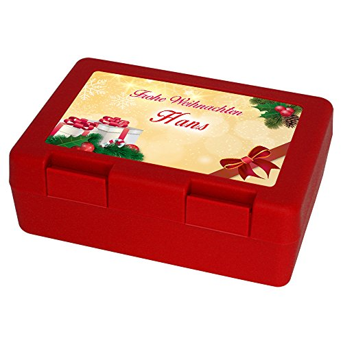 Keksdose zu Weihnachten mit Namen Hans und schönem Motiv