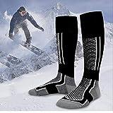 Calze caldo inverno Basketball Calcio Calze Unisex Uomini Donne escursionismo calze da sci Outdoor Sports calze nere per l'inverno all'aperto, tenere al caldo
