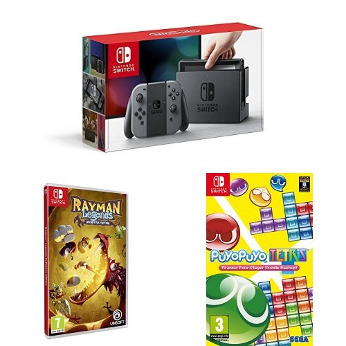Console Nintendo Switch Gris + Rayman Legends + Puyo Puyo Tetris