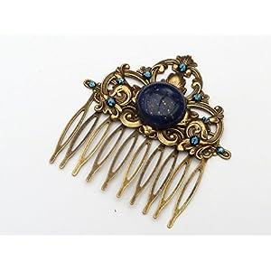 Haarkamm mit Lapis Lazuli im Antik Stil