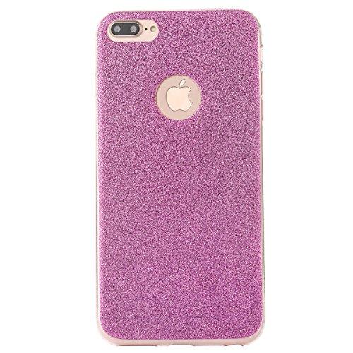 Clear Crystal Rubber Protettivo Case Skin per Apple iPhone 7Plus 5.5(NON iPhone 7 4.7), CLTPY Moda Brillantini Glitter Sparkle Lustro Progettare Protezione Ultra Sottile Leggero Cover per iPhone 7Pl Purple