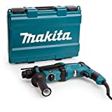 Makita HR2630 - Martillo rotativo combinado (26Mm, 230-240 V, 800 W, 0-1.200 Rpm, 40 posiciones)