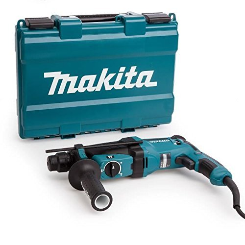 Makita  HR2630 - Martillo rotativo combinado (26Mm, 230-240 V, 800 W, 0 - 1.200 Rpm, 40 posiciones)