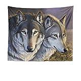 mmzki Animale Wolf Moon Totem Arazzo Appeso a Parete Asciugamano da Spiaggia Coperta LT-10 200 * 150 cm