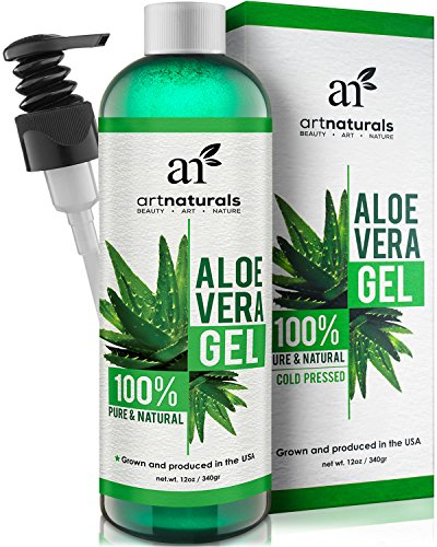 Sommer Haut Feuchtigkeitspflege (ArtNaturals Aloe Vera Gel Kaltgepresst - (12 Fl Oz / 354ml) - 100% Naturrein - Feuchtigkeitspflege für Haut und Haar - Für Sonnenbrand, Hautreizungen, Insektenstiche - After Sun)