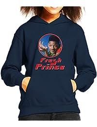 Fresh Prince Of Bel Will Smith Retro Photo Frame Kid's Hooded Sweatshirt