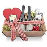 Geschenkkorb Von Herzen (5-teilig), Geburtstag, Hochzeit, Verlobung, für Freunde.