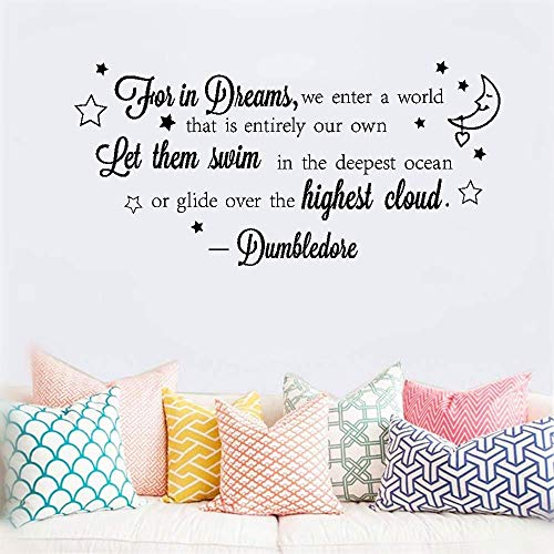 wandaufkleber sternenhimmel Wall Art Sticker for in dreams we enter a world that is entirely our own let them swim in the deepest ocean for nursery kids room boys girls room home decor - Disney Boy Wandtattoos
