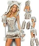 Damen Halloween-Kostüm Wolf / Fuchs Kunstfell , EU 36/38, 40/42 - EU 36/38