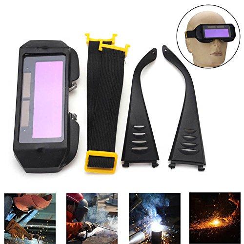 lzndeal Auto Solar Oscurecimiento Gafas de Soldadura Máscara Gafas Casco Ojos 2...