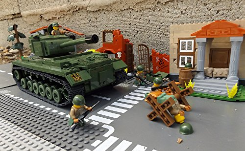 ★ World of Tanks 3008 - Bausteine US ARMY Panzer, 525 Teile, schwerer Kampfpanzer M46 PATTON, inkl. custom US ARMY Soldaten aus original Lego© Teilen ★ thumbnail