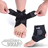 Bodyprox Ankle Support Brace, Breathable Neoprene Sleeve, Adjustable Wrap!