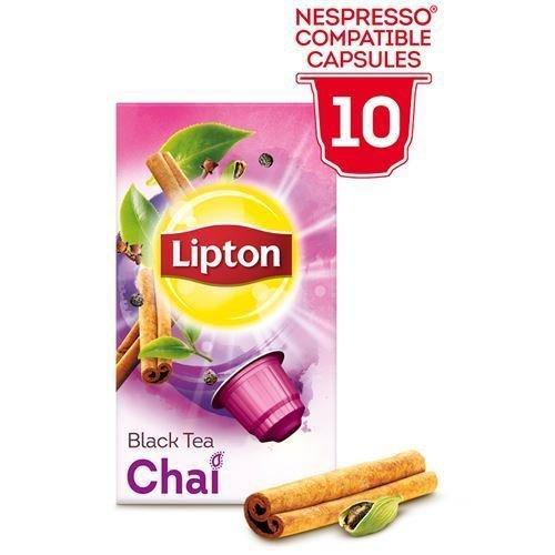 LIPTON Nespressokapseln kompatibel - SCHWARZE TEE CHAI - 6 x 10 kapseln (gesamt:60 st)