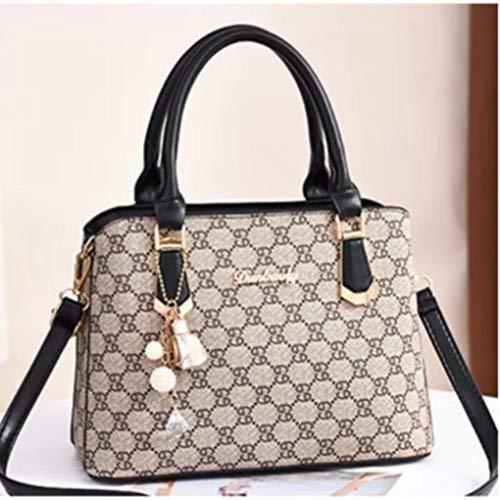 LFGCL Bags womenPrinted Letter Handbag Handtasche mit Modedruck, schwarz