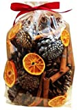 Christmas Decorations Pot Pourri Gift Bag (500g): Pinecone, dried fruits, oranges and leaves, pine cones and cinnamon sticks