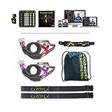 Crossover Symmetry Athletenpaket mit Türgurten – Schulterwiderstands- / Übungsbänder - perfekt für Crossfit, zum Aufwärmen, Armtraining, Schulterübungen oder körperliche Rehabilitation nach Verletzungen