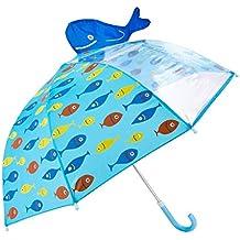 Rainbrace Paraguas Manual Infantil para niños-Ventana Transparente