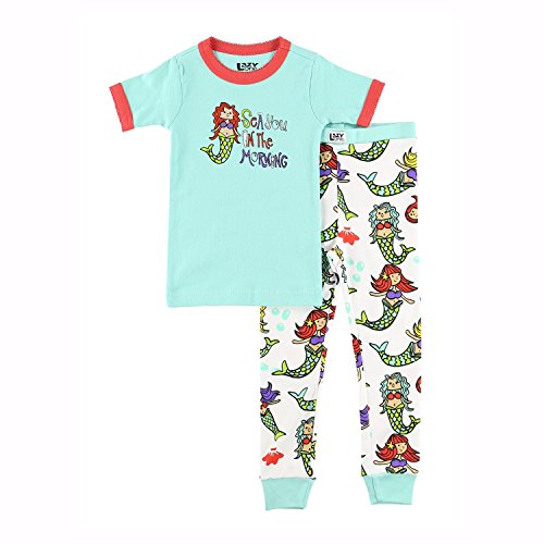 Lazy One Girls Sea You in The Morning Kids PJ Set Shortsleeve