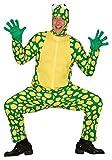Fancy Me Herren Grün Gecko Eidechse Reptil Tier Festival-Karneval Junggesellenabschied Halloween Kostüm Kleid Outfit - Grün, Medium