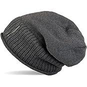 styleBREAKER warme Feinstrick Beanie Mütze mit sehr weichem Fleece Innenfutter