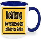 """'""""Atención confiar el sector zivilisierten Taza de café con diseño, impresa Taza con frases o imágenes–También personalizarla Después de elección del Cliente"""